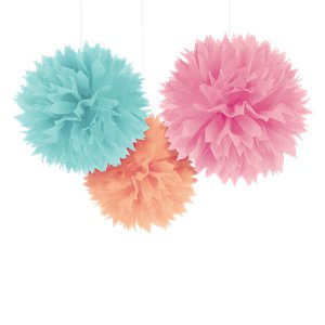 Pastel Pom Pom Decorations