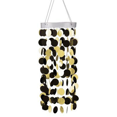 Black Hanging Circle Chandelier