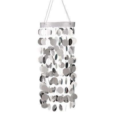 Silver Hanging Circle Chandelier
