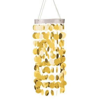 Gold Hanging Circle Chandelier