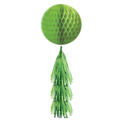 Green Honeycomb Ball with Tassel Tail