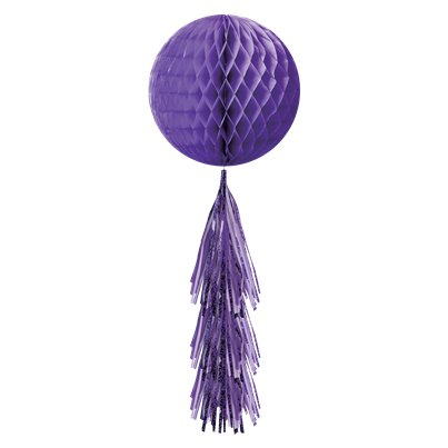 Purple Honeycomb Ball with Tassel Tail
