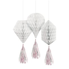 White Mini Honeycombs with Tassels