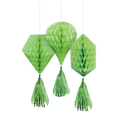 Green Mini Honeycombs with Tassels