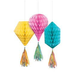 Multi Mini Honeycombs with Tassels - 30cm