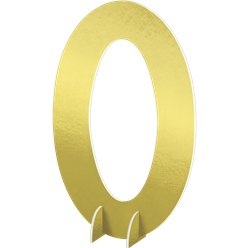 Number 0 Large Standing Sign - 61cm