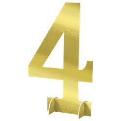 Number 4 Large Standing Sign - 61cm