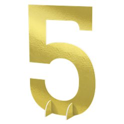 Number 5 Large Standing Sign - 61cm
