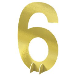 Number 6 Large Standing Sign - 61cm