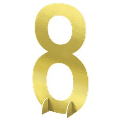 Number 8 Large Standing Sign - 61cm