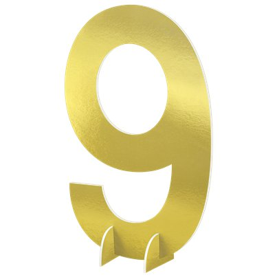 Number 9 Large Standing Sign - 61cm