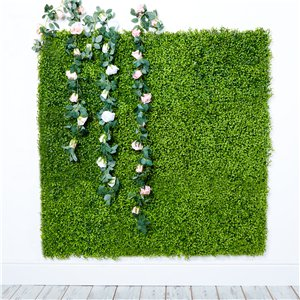 Green Faux Plant Wall