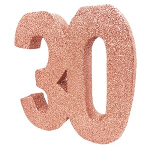 30th Birthday Rose Gold Decoration Kit - Premium