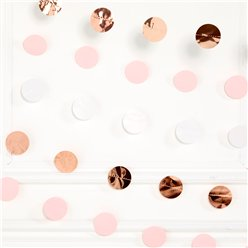 Rose Gold Blush Dot Garlands - 2.1m