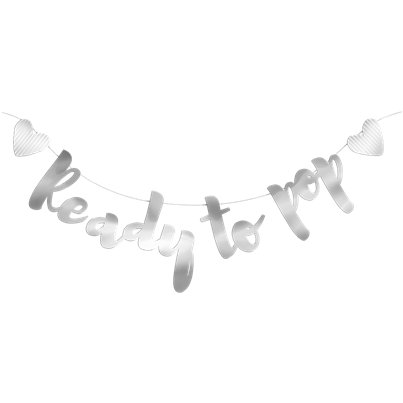 Baby Shower Decorations Ready To Pop Silver Garland