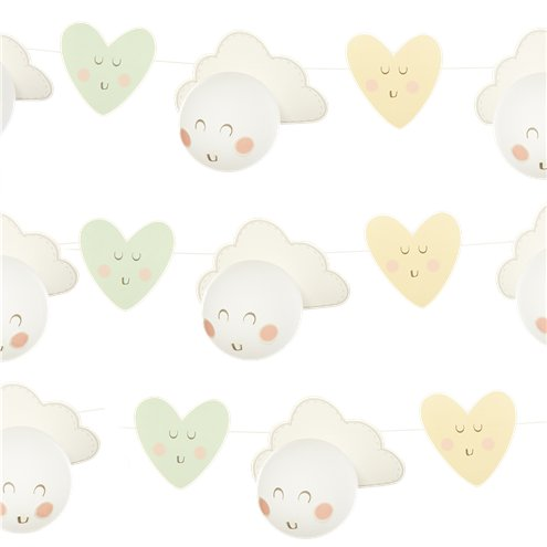 Smiley Cloud Balloon Garland Party Delights