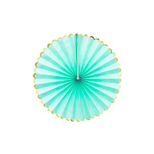 Mint Green & Gold Paper Fans