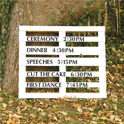 Wedding Event Times Stencil Kit