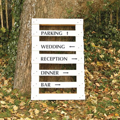 Wedding Venue Directions Stencil Kit