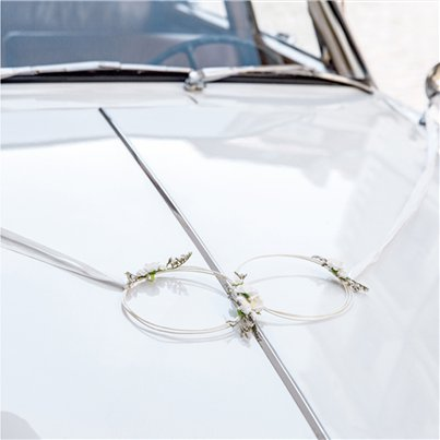 White Wedding Car Decoration Kit
