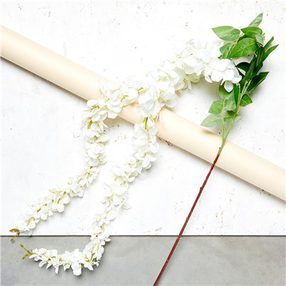 Cream Wisteria Decoration - 1.7m