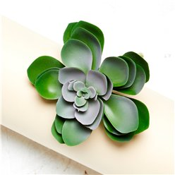 Green Succulent Decoration - 11cm