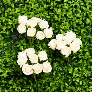 Mini Ivory Foam Rose Bud Decorations