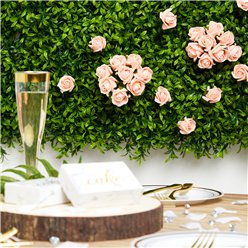 Mini Peach Foam Rose Bud Decorations