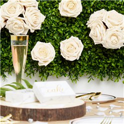 Ivory Foam Rose Bud Decorations