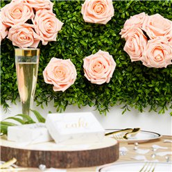 Peach Foam Rose Bud Decorations