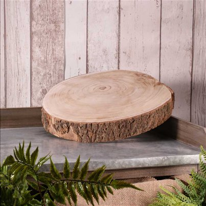 Wooden Slice Table Centrepiece - 31cm