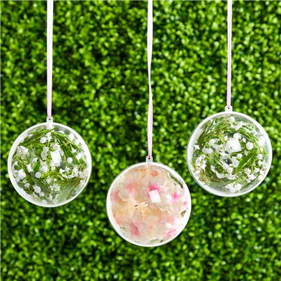Plastic Baubles Hanging Decorations - 12cm