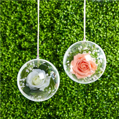 Plastic Bauble Hanging Decoration - 15.5cm