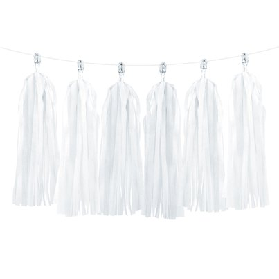 White Tassel Garland Decoration - 1.5m
