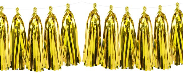 Gold Tassel Garland Decoration - 1.5m