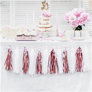 Rose Gold Tassel Garland Decoration - 1.5m