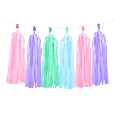 Pastel Tassel Garland Decoration - 1.5m