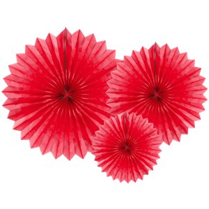 Red Tissue Paper Fans