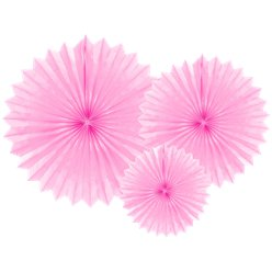 Light Pink Tissue Paper Fans