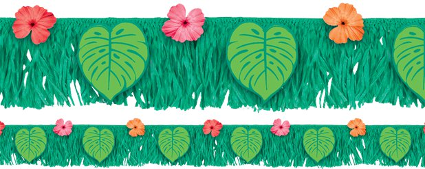 Tropical Jungle Fringe Banner - 1.77m