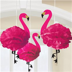 Fluffy Flamingo Hanging Decorations