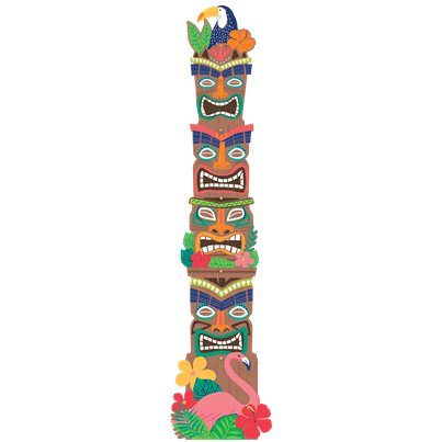 Jointed Tiki Totem Pole Cut-Out - 2m