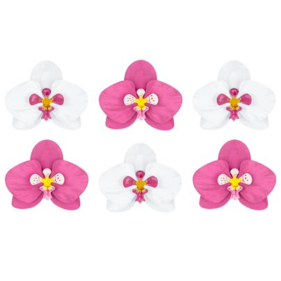 Orchid Flower Decorations - 8.5cm