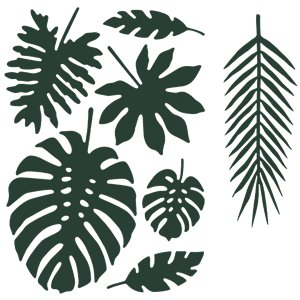 Tropical Leaf Decorations - Assorted Sizes