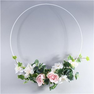 White Wedding Hanging Hoop - 60cm