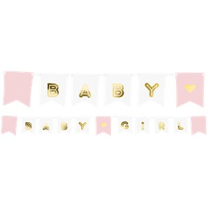 Pink Baby Girl Banner - 1.75m