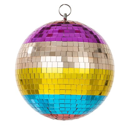 Rainbow Disco Ball - 20cm