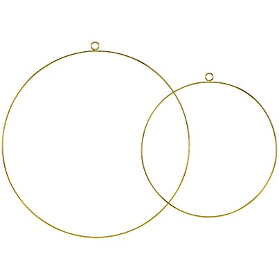 Hoops - Gold Metal Hanging Decorations