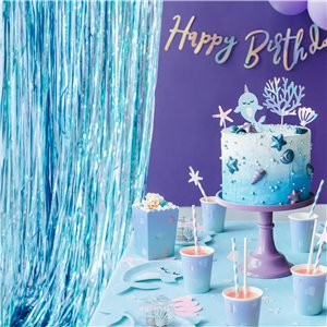 Blue Foil Curtain - 2.5m