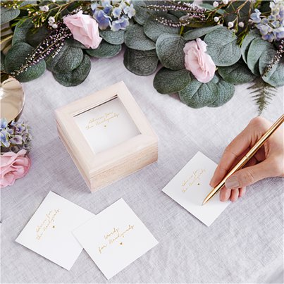 Guest book - Wedding Advice Box - 9.5cm x 6cm